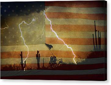 Patriotic Operation Desert Storm Canvas Print by James BO  Insogna
