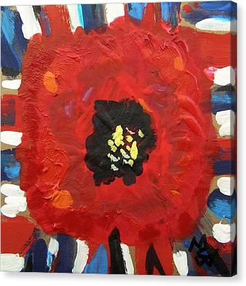 Patriotic Poppy Canvas Print