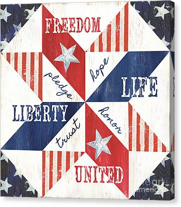 Patriotic Quilt 1 Canvas Print