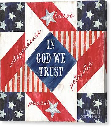Democracy Canvas Print - Patriotic Quilt 2 by Debbie DeWitt