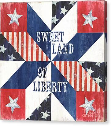 Patriotic Quilt 3 Canvas Print