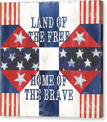 Democracy Canvas Print - Patriotic Quilt 4 by Debbie DeWitt