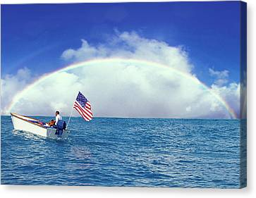 Patriotic Rainbow Canvas Print