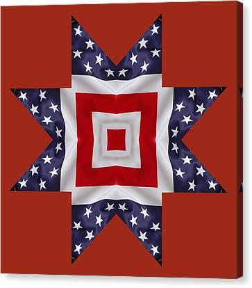 Patriotic Star 1 - Transparent Background Canvas Print by Jeff Kolker