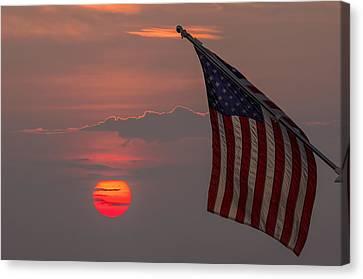 Patriotic Sunset Canvas Print by Mark Papke