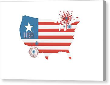 Patriotic Usa Canvas Print by Chastity Hoff