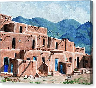 Taos Canvas Print - Patrolling The Pueblo by Timithy L Gordon