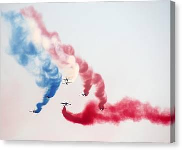 Patrouille De France At Radom Air Show Canvas Print by Jacob Halun
