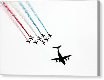 Patrouille De France Flyover Canvas Print by Nishanth Gopinathan