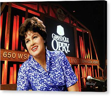 Artwork Canvas Print - Patsy Cline At The Grand Ole Opry by Garland Johnson