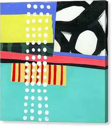 On Wood Canvas Print - Pattern Grid #2 by Jane Davies
