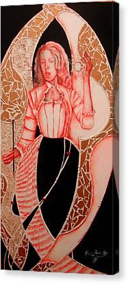Patterna Rebecca         Canvas Print by Rebecca Tacosa Gray
