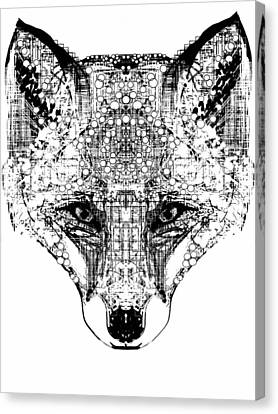 Patterned Fox Canvas Print