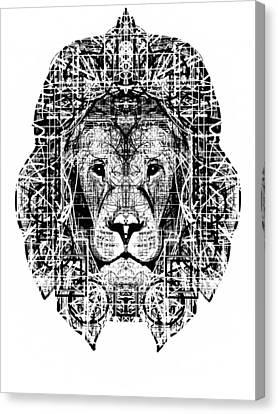 Patterned Lion Canvas Print by Harold Belarmino