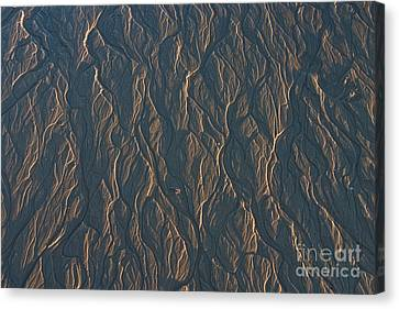 Canvas Print featuring the photograph Patterns In The Sand by David Bishop