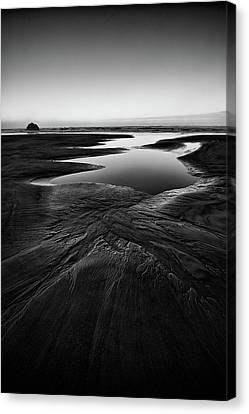 Canvas Print featuring the photograph Patterns In The Sand by Jon Glaser