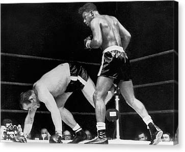 Boxer Canvas Print - Patterson Beats Johansson by Underwood Archives