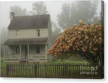 Civil War Site Canvas Print - Patterson House And Fog by Thomas R Fletcher