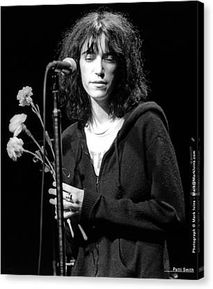 Patti Smith Canvas Print by Mark Ivins
