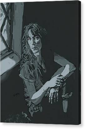 Patti Smith Canvas Print by Suzanne Gee