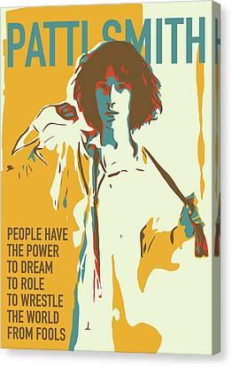 Patti Smith Canvas Print by Greatom London