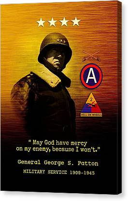 Patton Tribute Canvas Print by John Wills