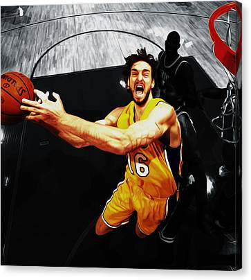 Pau Gasol 2a Canvas Print by Brian Reaves