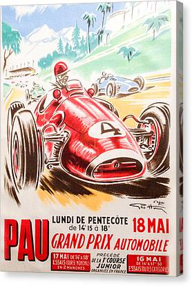 Pau Grand Prix 1959 Canvas Print by Georgia Fowler