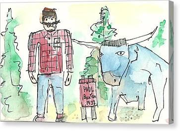 Paul And Babe Canvas Print by Matt Gaudian