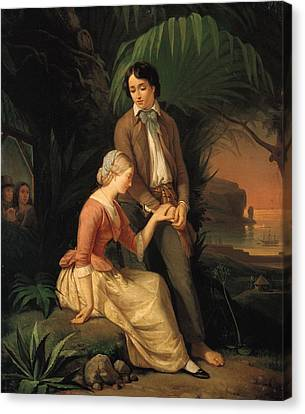 Mauritius Canvas Print - Paul And Virginie by French School