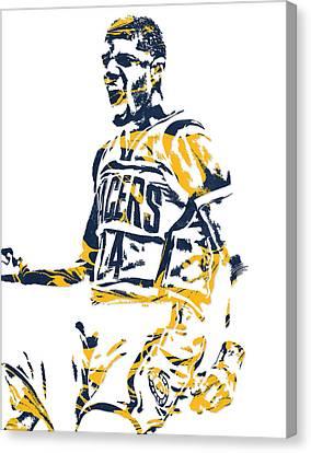 Paul George Indiana Pacers Pixel Art 5 Canvas Print