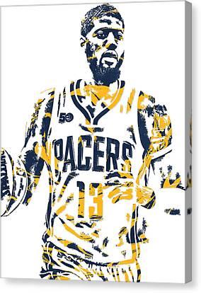 Paul George Indiana Pacers Pixel Art 7 Canvas Print