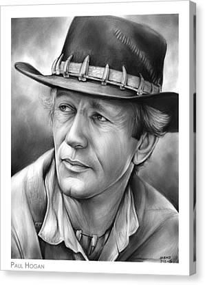 Paul Hogan Canvas Print by Greg Joens