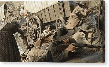 Wagon Wheels Canvas Print - Paul Kruger by Unknown