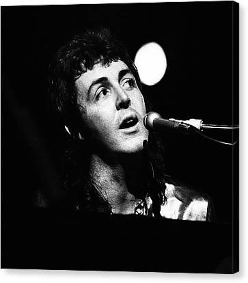 Canvas Print featuring the photograph Paul Mccartney 1973 Square by Chris Walter