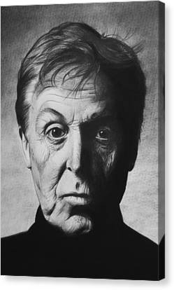Paul Mccartney Canvas Print by Steve Hunter