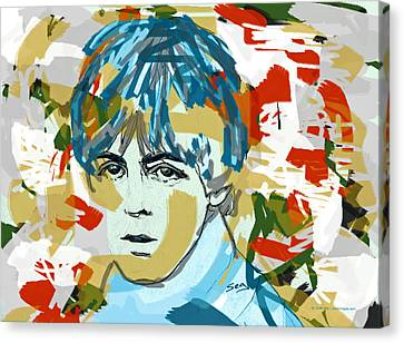 Paul Mccartney Canvas Print by Suzanne Gee