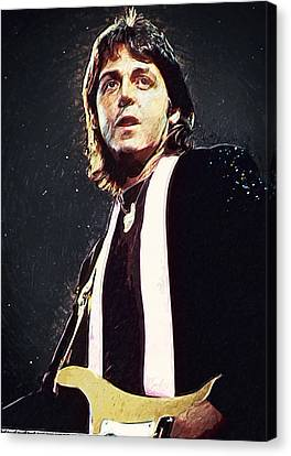 Paul Mccartney Canvas Print by Taylan Apukovska
