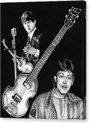 Paul Mccartney's Hofner Bass Canvas Print