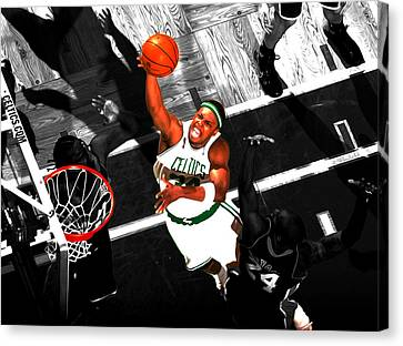 Vince Carter Canvas Print - Paul Pierce In The Paint by Brian Reaves