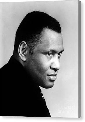 Canvas Print featuring the photograph Paul Robeson by Granger