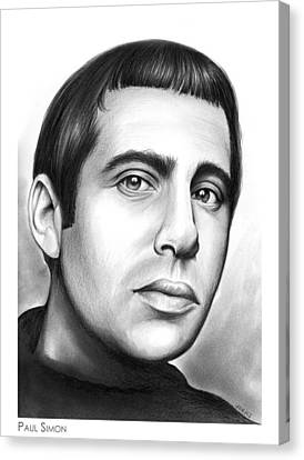 Paul Simon Canvas Print by Greg Joens