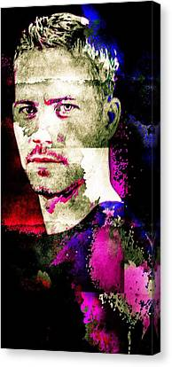 Paul Walker Canvas Print by Svelby Art