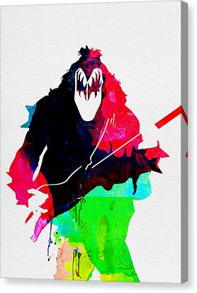 Paul Watercolor Canvas Print by Naxart Studio