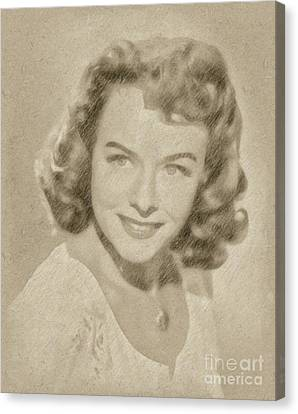 Paulette Goddard Vintage Hollywood Actress Canvas Print by Frank Falcon