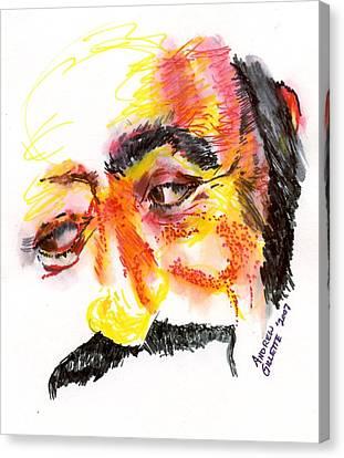 Pavarotti Sketch No. 1 Canvas Print by Andrew Gillette