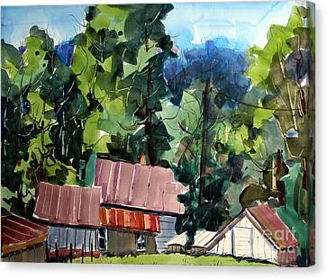 Indiana Landscapes Canvas Print - Paw Paw Pike Pastoral by Charlie Spear
