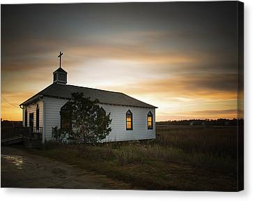 Pawleys Chapel Sunset Canvas Print by Ivo Kerssemakers