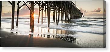 Pawleys Island Pier Sunrise Canvas Print by Ivo Kerssemakers