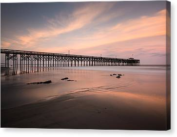 Pawleys Island Pier Sunset Canvas Print by Ivo Kerssemakers
